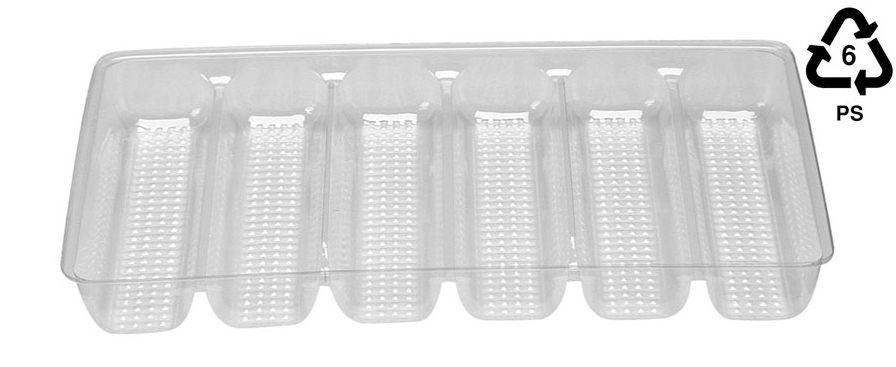 6 compartment stuffed manicotti tray
